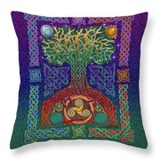 Celtic Tree Of Life Throw Pillow by Kristen Fox