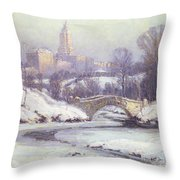 Central Park Throw Pillow by Colin Campbell Cooper