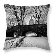 Central Park West And The San Remo Building  Throw Pillow by John Farnan