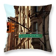 Central Park West Throw Pillow by Madeline Ellis