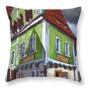 Cesky Krumlov Old Street 3 Throw Pillow by Yuriy  Shevchuk