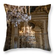 Chandelier At Versailles Throw Pillow by Georgia Fowler