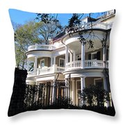 Charlestons beautiful architecure Throw Pillow by Susanne Van Hulst