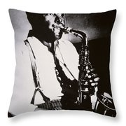 Charlie Parker Throw Pillow by American School