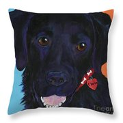 Charlie Throw Pillow by Pat Saunders-White
