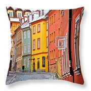 Cheb An Old-world-charm Czech Republic Town Throw Pillow by Christine Till