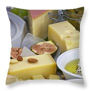 Cheese Plate Throw Pillow by Joana Kruse