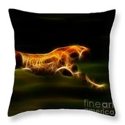 Cheetah Hunting His Prey Throw Pillow by Pamela Johnson
