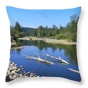 Chehalis River Washington Throw Pillow by Laurie Kidd
