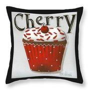 Cherry Celebration Throw Pillow by Catherine Holman