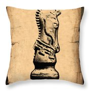Chess Knight Throw Pillow by Tom Mc Nemar