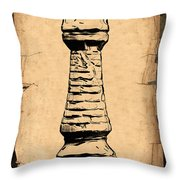 Chess Rook Throw Pillow by Tom Mc Nemar
