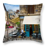 Chez Julien Throw Pillow by Inge Johnsson
