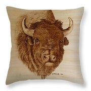 Chief Throw Pillow by Jo Schwartz