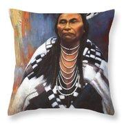 Chief Joseph Throw Pillow by Harvie Brown