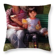 Children - Balanced Meal Throw Pillow by Mike Savad