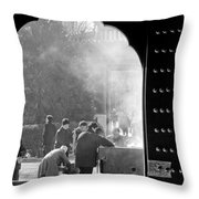 China Temple Throw Pillow by Sebastian Musial