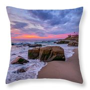 Chris's Rock Throw Pillow by Peter Tellone