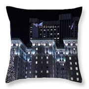 Christmas Eve 2009 at the Westin St Francis SF Throw Pillow by Wingsdomain Art and Photography