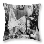 Christmas Eve, C1897 Throw Pillow by Granger