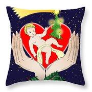Christmas Eve- Nativity Throw Pillow by Michal Boubin