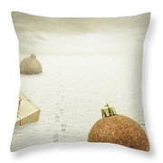 Christmas Journey Throw Pillow by Wim Lanclus