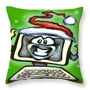Christmas Office Party Throw Pillow by Kevin Middleton