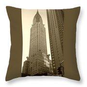 Chrysler Building Throw Pillow by Debbi Granruth