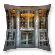 Church Street Post Office I Throw Pillow by Clarence Holmes