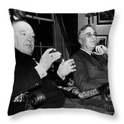 CHURCHILL & ROOSEVELT Throw Pillow by Granger