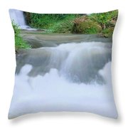 Churning Throw Pillow by Kristin Elmquist