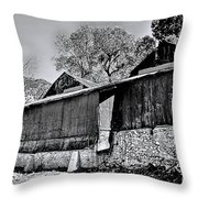 Cider Mill Throw Pillow by Tommy Anderson