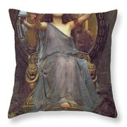 Circe Offering The Cup To Ulysses Throw Pillow by John Williams Waterhouse