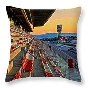 Circuit De Catalunya - Barcelona  Throw Pillow by Juergen Weiss