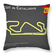 Circuit de Catalunya Throw Pillow by Mark Rogan