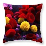 Circulating Human Blood, Sem Throw Pillow by Omikron
