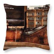 City - Ny - New York History Throw Pillow by Mike Savad