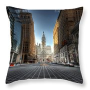 City Hall Throw Pillow by Lori Deiter