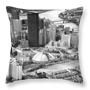 City Of Champions Throw Pillow by Emmanuel Panagiotakis