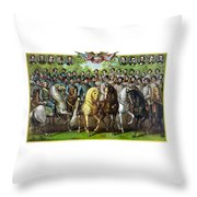Civil War Generals And Statesman Throw Pillow by War Is Hell Store