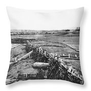 Civil War: Quaker Guns Throw Pillow by Granger