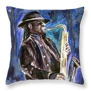 Clarence Clemons Throw Pillow by Clara Sue Beym