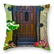 Classic Belmont Shore Throw Pillow by Gwyn Newcombe