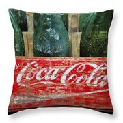 Classic Coke Throw Pillow by David Lee Thompson
