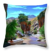 Clawfoot Throw Pillow by Snake Jagger