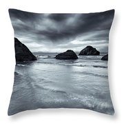 Clearing Storm Throw Pillow by Mike  Dawson