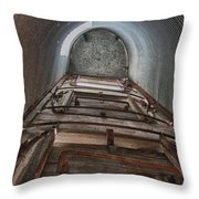 Climbing The Silo Throw Pillow by Guy Whiteley