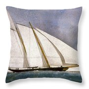 Clipper Yacht America Throw Pillow by Granger