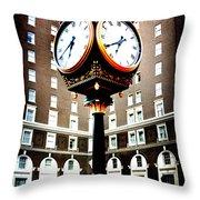 Clock Throw Pillow by Kelly Hazel