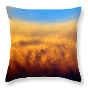 Clouds Ablaze Throw Pillow by Marty Koch
